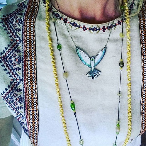 'Fly free' ~ wood pendant