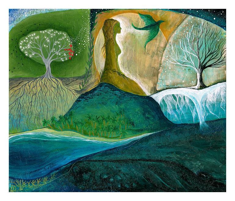 Hannah Dorman Artist Northern Ireland Connected nature spiritual art