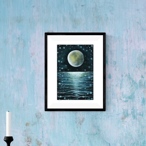 'My Moon' ~ A4 print ~ recycled paper