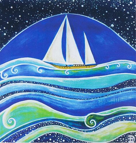 Star Sailing ~ Original painting