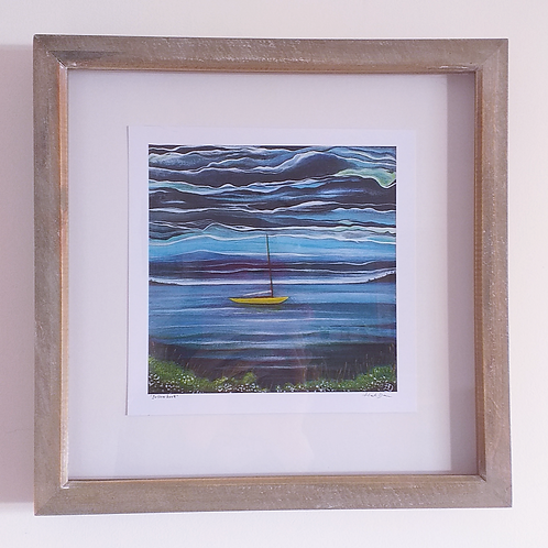 Yellow Boat ~ Framed print