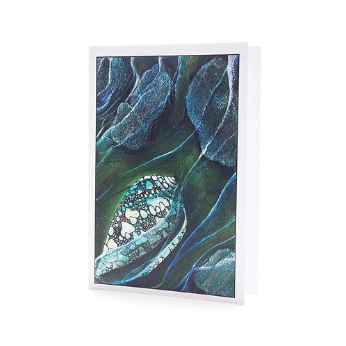 rock pool shell beach waves shore sea shells beachcomber treasure nature art greeting card hannah dorman