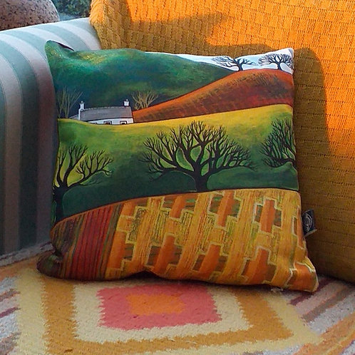 Autumn cottage ~ Cushion