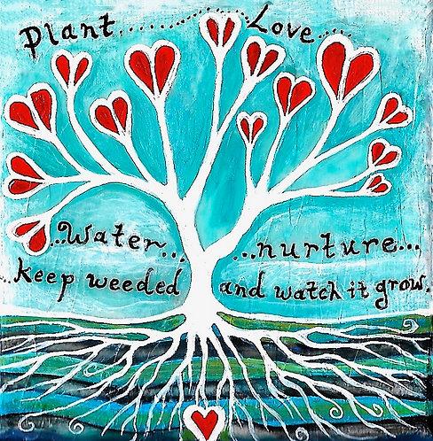 Plant Love ~ Original painting