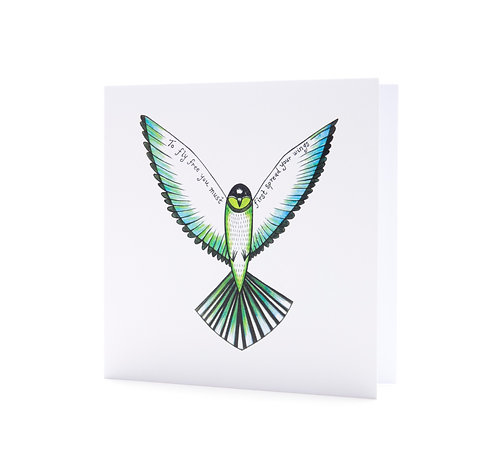 to fly free you must first spread your wings freedom positive inspirational quote art greeting card hannah dorman