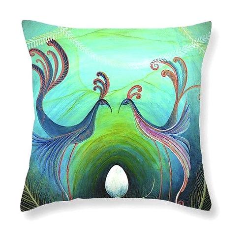 new born gift magical bird cushion art cushion made in ireland