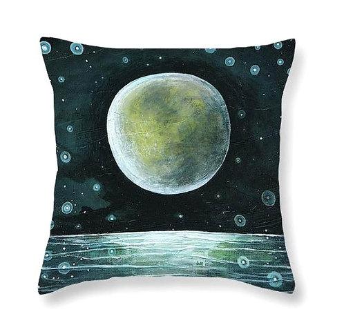 moon over water ocean stars sailor universe boho cushion