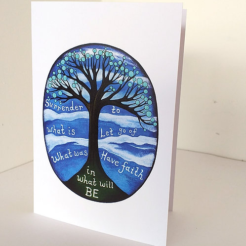 Have faith in what will be greeting card hope let go quote card uk online
