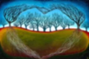 Hannah Dorman Artist Northern Ireland Connected trees art spiritual love