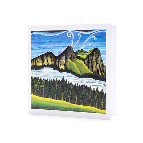 inhale exhale cycle of oxygen trees breath mindfulness gratitude art greeting card hannah dorman