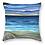 sunset beach shell tropical island pacific art cushion