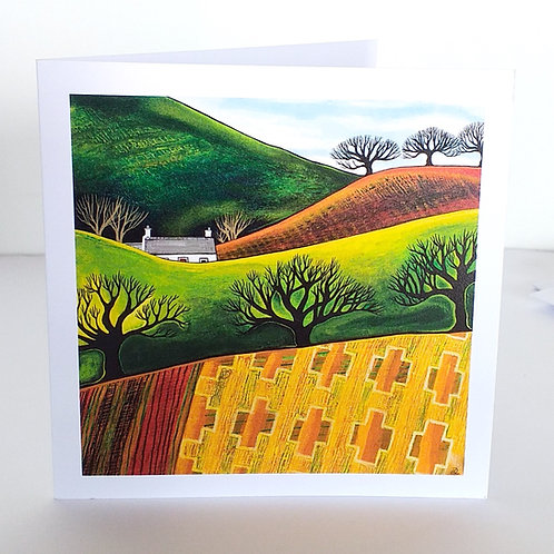Across Blanket fields  - square card
