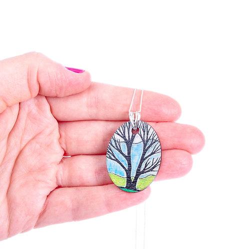 Field Tree ~ Sterling Silver Chain