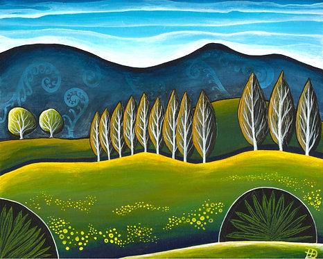 The Hills Beyond ~ Original painting