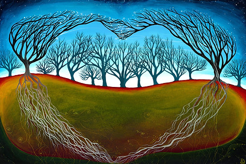 Seeing Through the Woods ~ Original painting