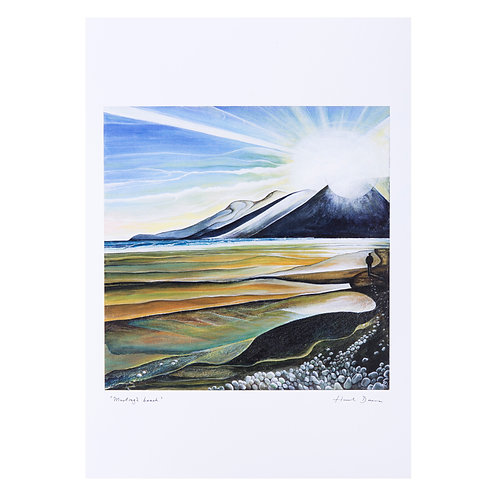 murlough beach sunset art print northern ireland hannah dorman artist