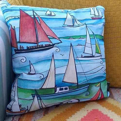 Sail Boats ~ Cushion