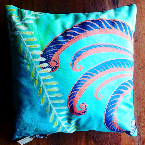 Feather art boho throw cushion made in ireland