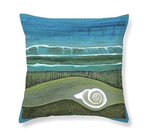 beach shell waves ocean lover cushion made in ireland