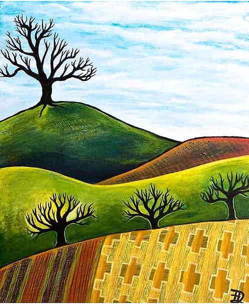 Across Blanket Fields ~ Original painting