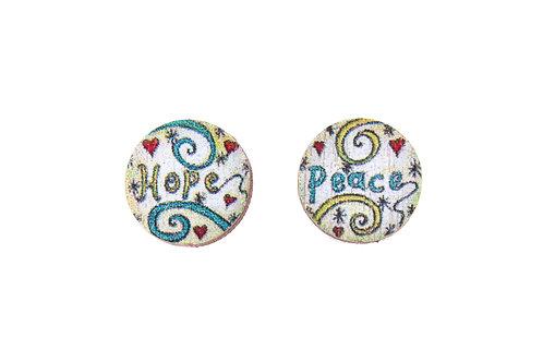 Hope & Peace ~ Studs