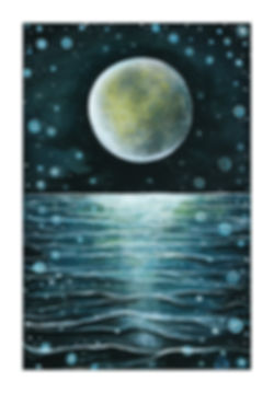 Hannah Dorman Artist Northern Ireland Moon Painting