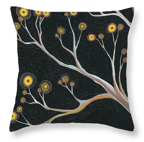 Black branch tree nature cushion