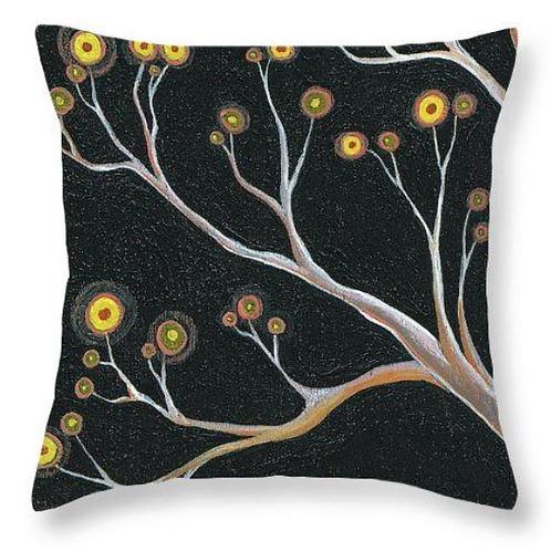 Black branch tree nature cushion