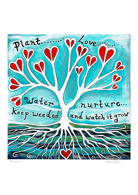 Plant Love ~ A4 Print ~ recycled paper