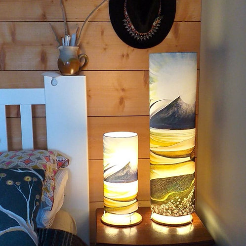 Murlough beach art lamp. Northern Ireland. Mountain lamp. Mourne mountains. Unique lighting and homeware. Made in Ireland