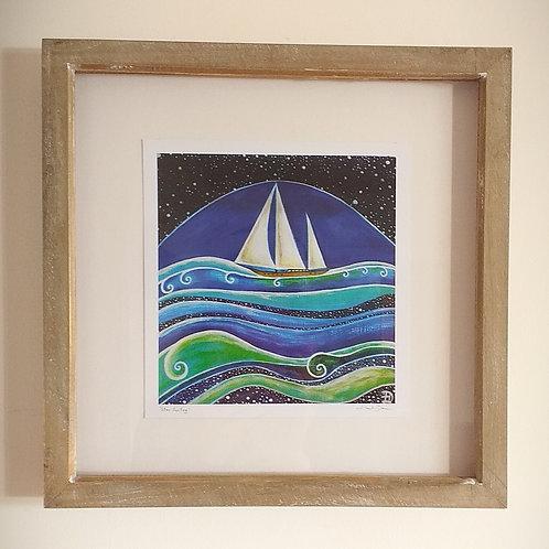 Star Sailing ~ Framed print