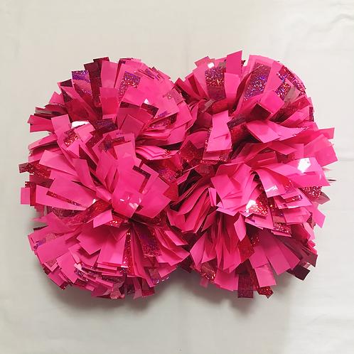 ポンポン:ピンク&蛍光ピンク