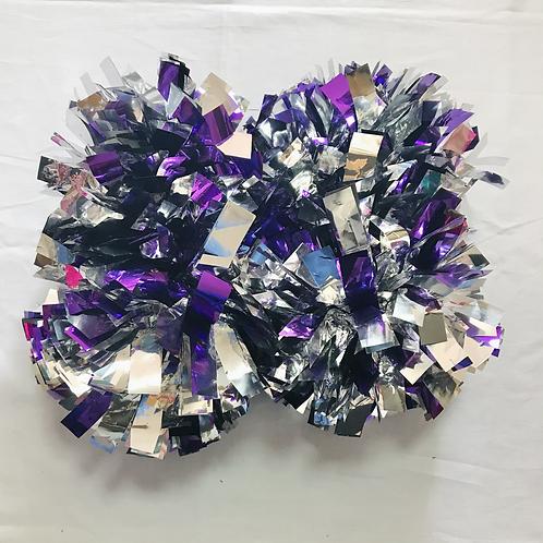 ポンポン:紫&シルバー