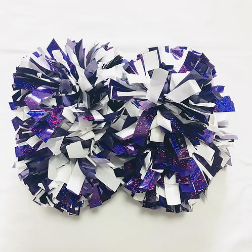 ポンポン:紫&白