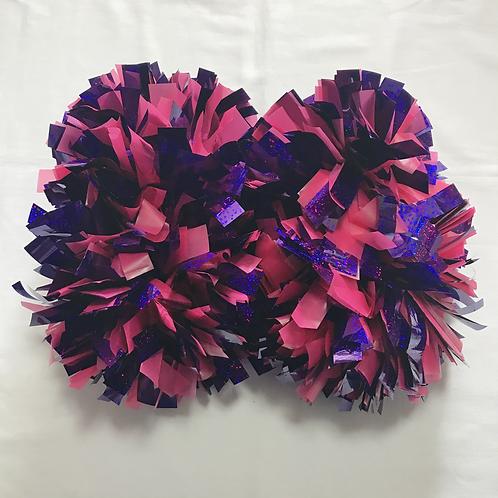 ポンポン:ピンク&紫