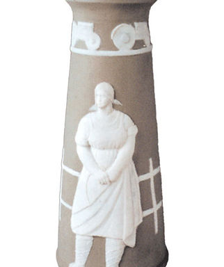 Фарфоровая ваза Трактористка