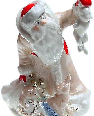 Фарфоровая статуэтка Дед-Мороз
