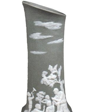 Фарфоровая вазочка «Пионерский лагерь».j