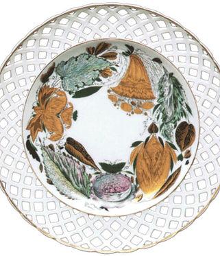 Тарелка с ажурным бортом