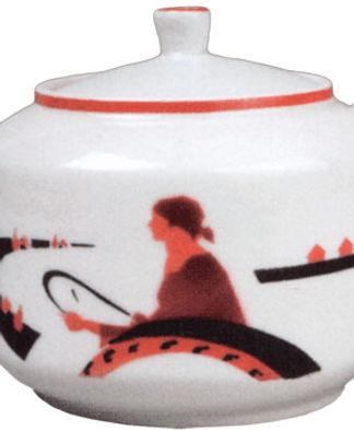Фарфоровый чайник «с рисунком Тракторист