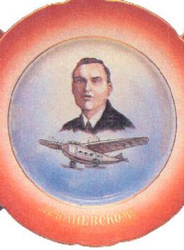 Фарфоровые тарелки героев-летчиков