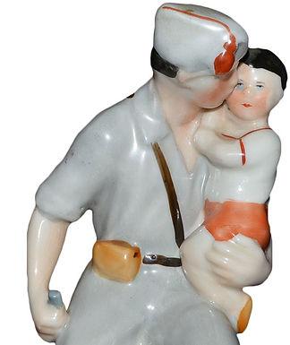Фарфоровая статуэтка «Испанец с ребенком