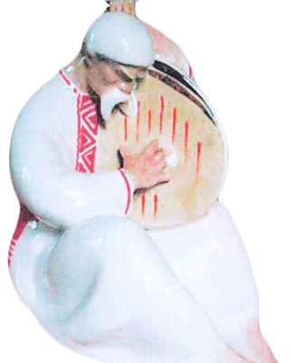 Фарфоровая статуэтка Кобзарь