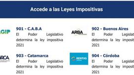 Herramientas. Leyes impositivas 2021