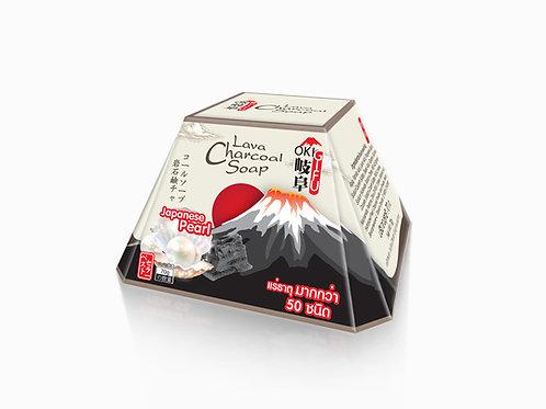 Gifu Lava Charcoal Soap & Japanese Pearl