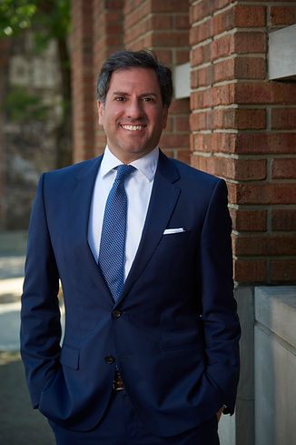 Crime victim rights attorney Gregory Zarzaur standing outside his Birmingham, Alabama law office