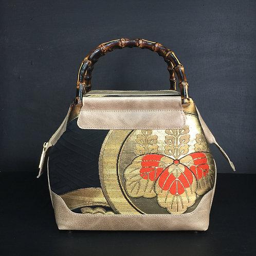 帯✕革 鯉口(五七の桐紋✕フラワーオブライフ)