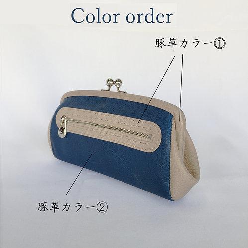 【カラーオーダー専用】親子がま口財布 大廻