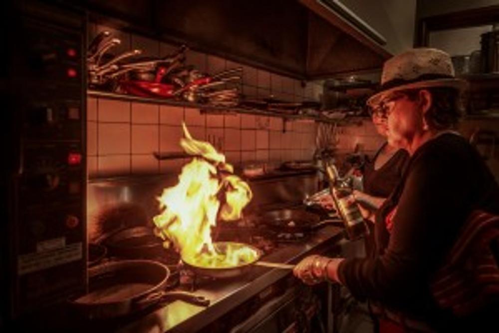 Head chef Sally Fernandez overseas every dish