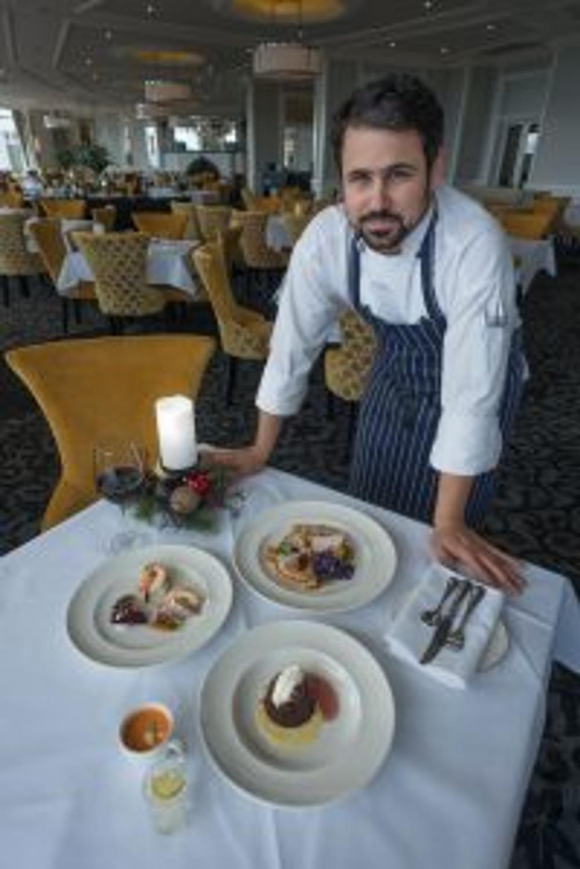 Hydro Majestic Hotel head chef Mate Herceg with the Yulefest degustation in the Wintergarden Restaurant